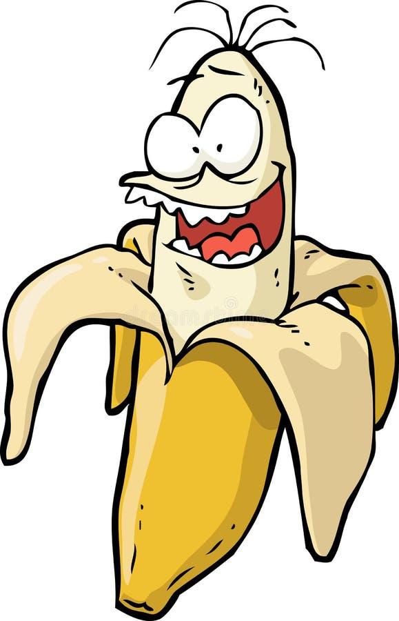 Банан Doodle шальной иллюстрация вектора