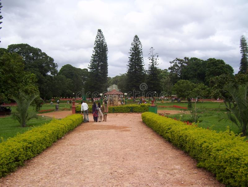 Бангалор, Karnataka, Индия - парк 11-ое августа 2008 на саде Lalbagh ботаническом стоковые изображения rf