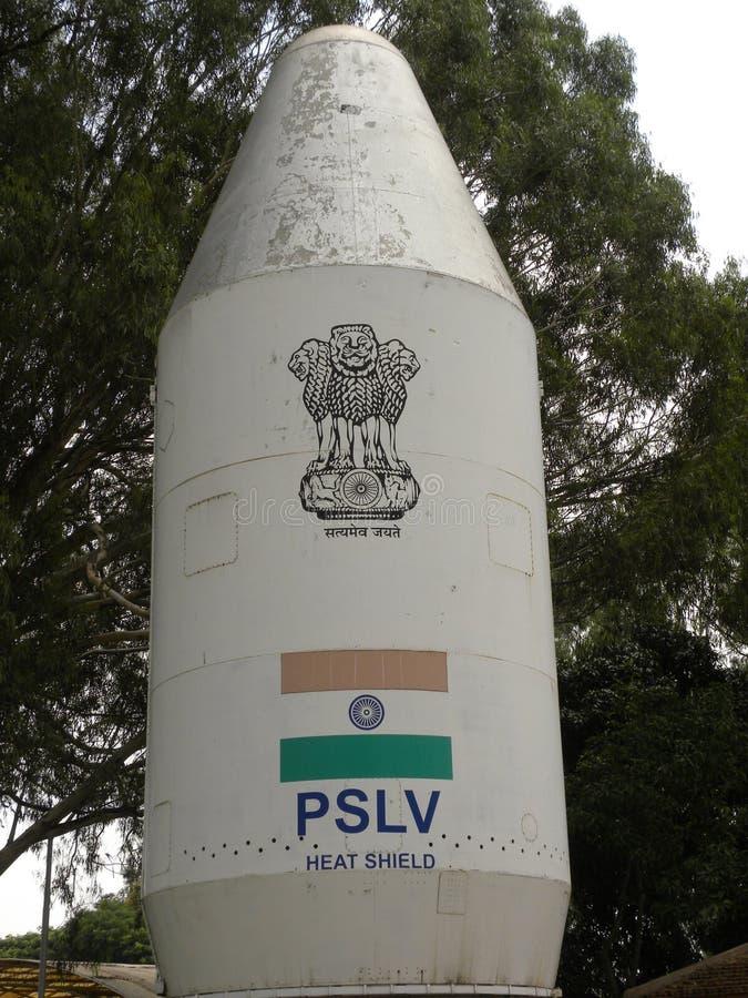 Бангалор, Karnataka, Индия - тепловая защита 1-ое января 2009 PSLV на музее воздушно-космического пространства HAL стоковое фото rf