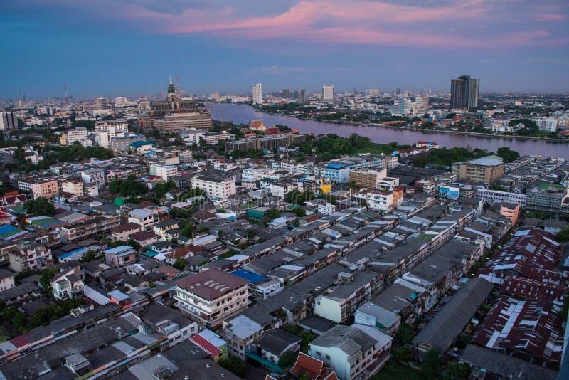 Бангкокский пейзаж стоковые фотографии rf