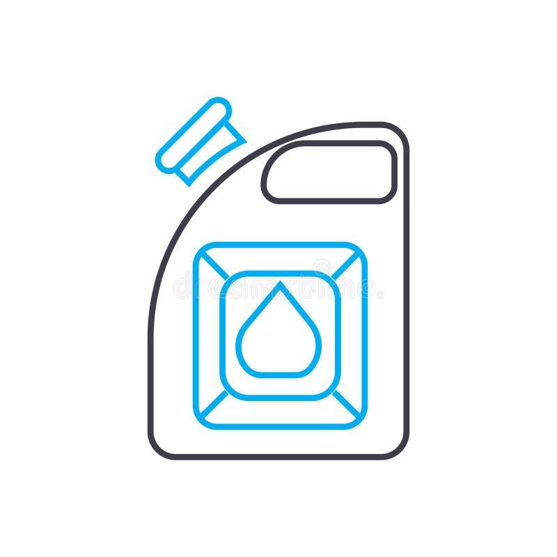 Банка для линии значка вектора бензина тонкой хода Банка для иллюстрации плана бензина, линейного знака, символа иллюстрация вектора
