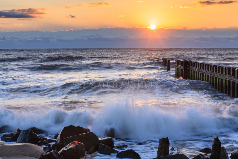 Банки Северная Каролина восхода солнца океана наружные стоковые изображения rf