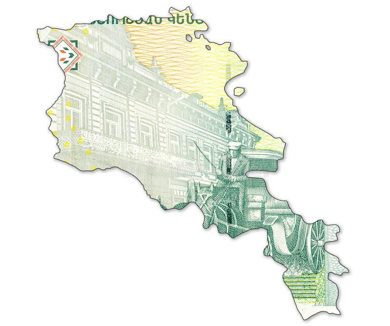 банкнота драхмы 1000 армянках в форме Армении стоковое изображение rf