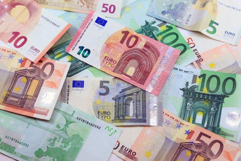 Банкноты денег евро стоковая фотография