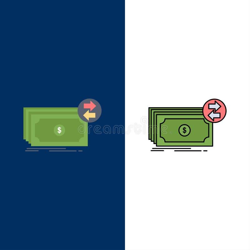 Банкноты, наличные деньги, доллары, подача, вектор значка цвета денег плоский бесплатная иллюстрация