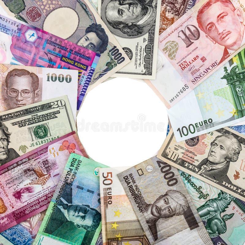 Банкноты от различных стран стоковые изображения