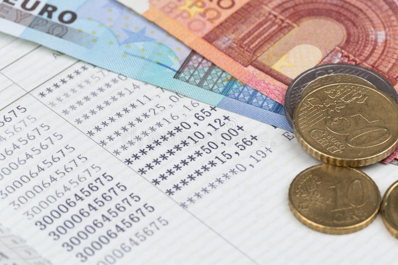 Банковская книжка на предъявителя банка сбережений стоковые фотографии rf