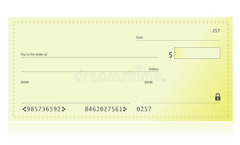 банковский чек иллюстрация штока
