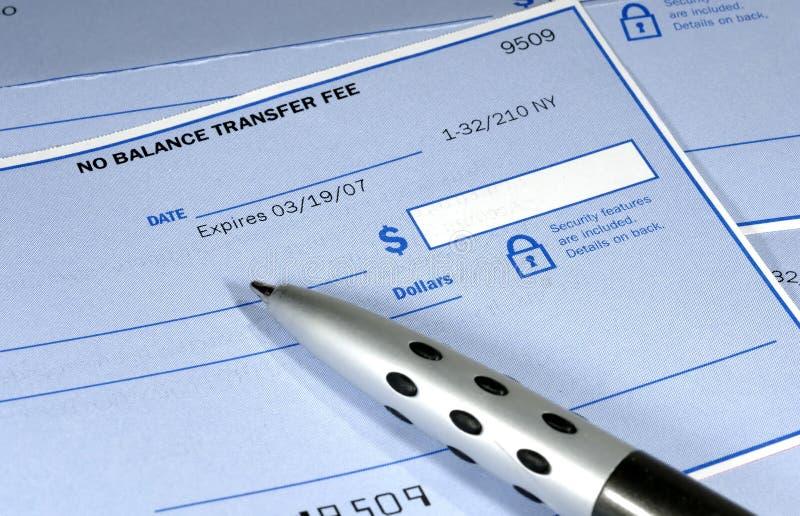 банковский чек стоковая фотография rf