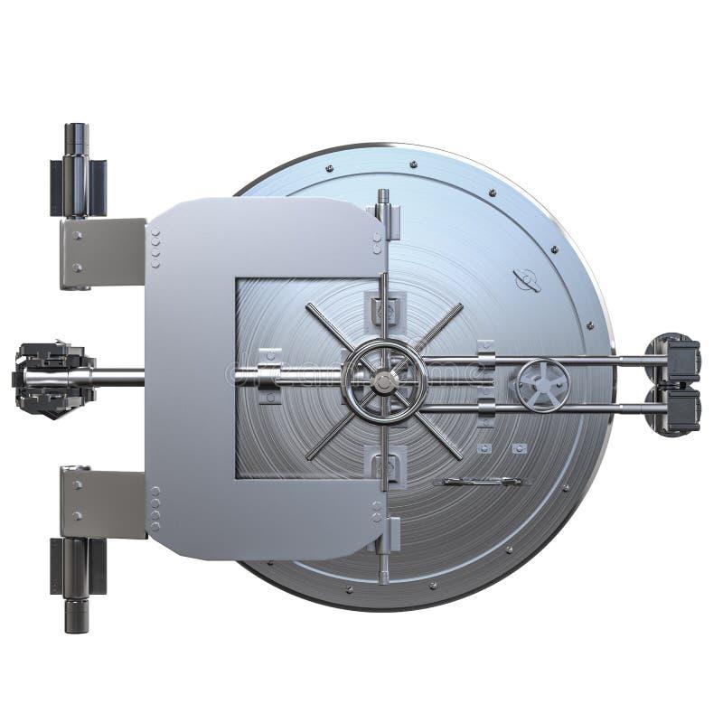 Банковское хранилище металла иллюстрация штока