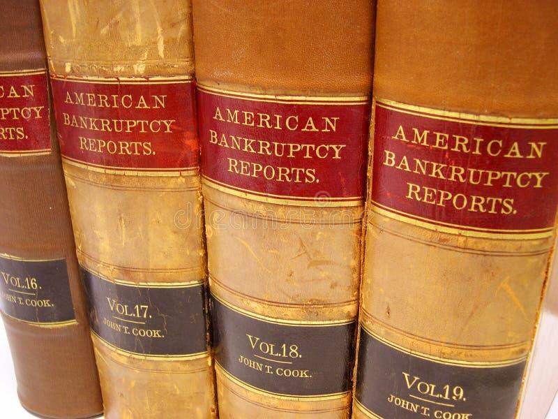 банкротство записывает закон Стоковые Фотографии RF