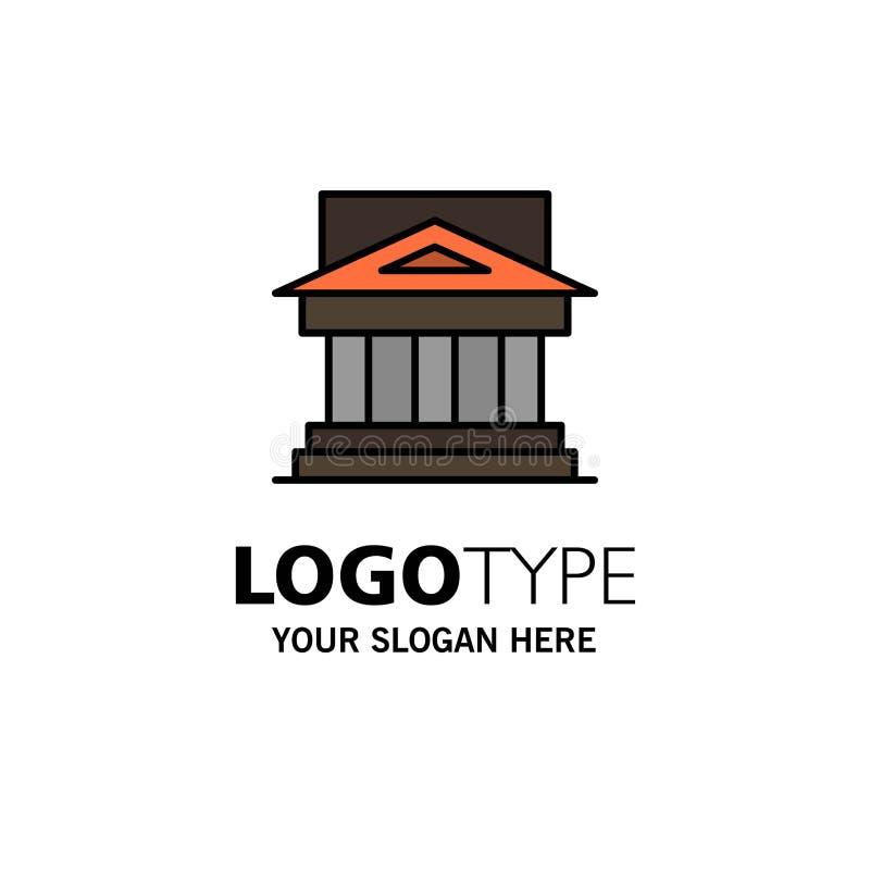 Банк, архитектура, здание, суд, имущество, правительство, дом, шаблон логотипа дела свойства r иллюстрация вектора