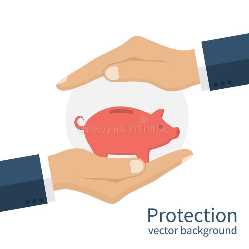 банк вручает piggy бесплатная иллюстрация