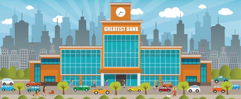 Банк в городе бесплатная иллюстрация