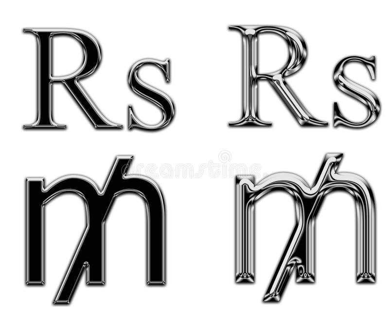 Банк денег символа валюты металла стоковые изображения rf
