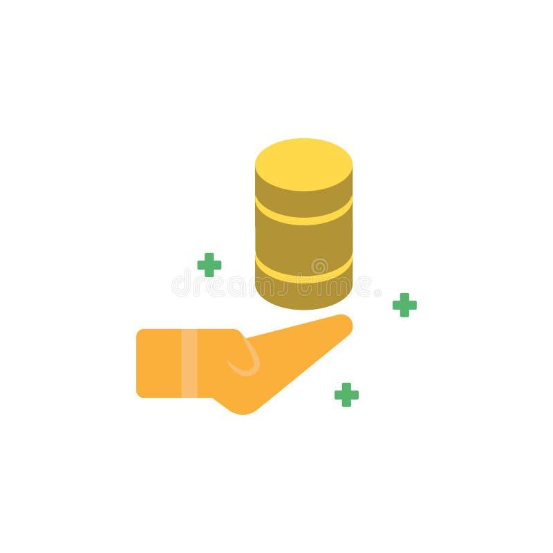 Банк, значок денег наличных денег Элемент значка денег и банка сети для мобильных приложений концепции и сети Детализированный ба иллюстрация штока