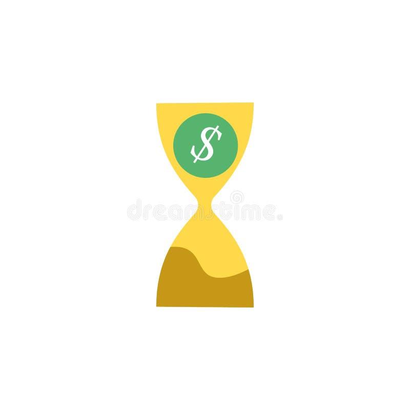 Банк, значок дополнительного времени Элемент значка денег и банка сети для мобильных приложений концепции и сети Детализированный иллюстрация штока