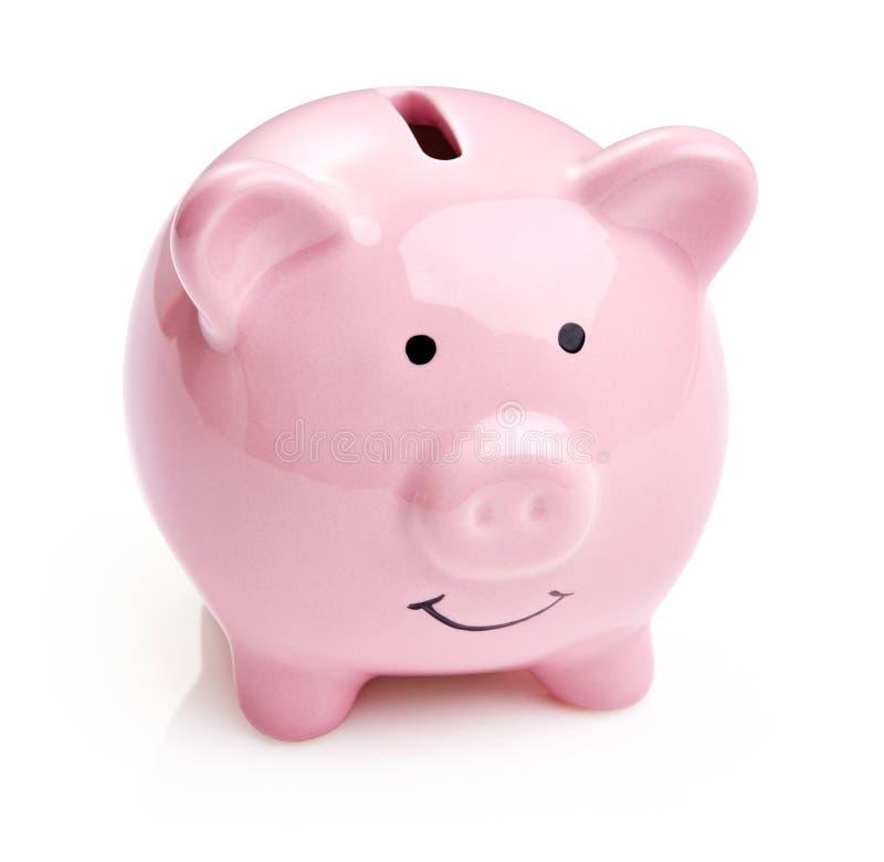банк изолировал piggy стоковое изображение