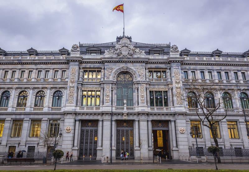 Банк Испании в Мадриде стоковое фото rf