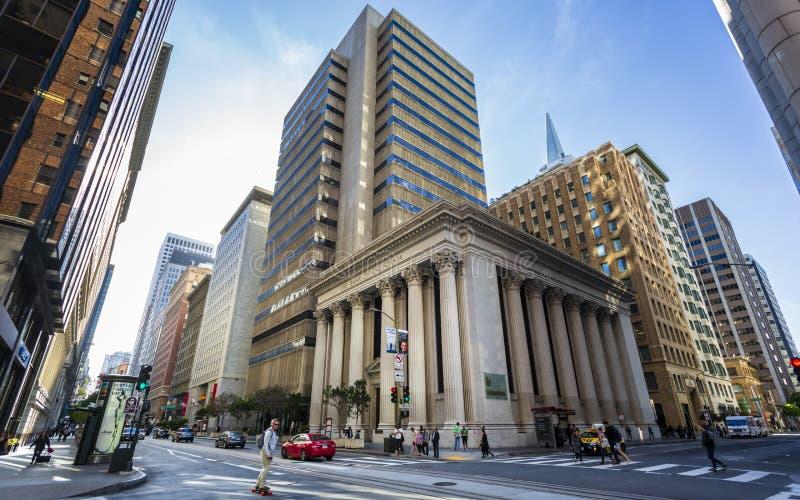 Банк Калифорния, финансового района, Сан-Франциско, Калифорния, Соединенных Штатов Америки, Северной Америки стоковое изображение