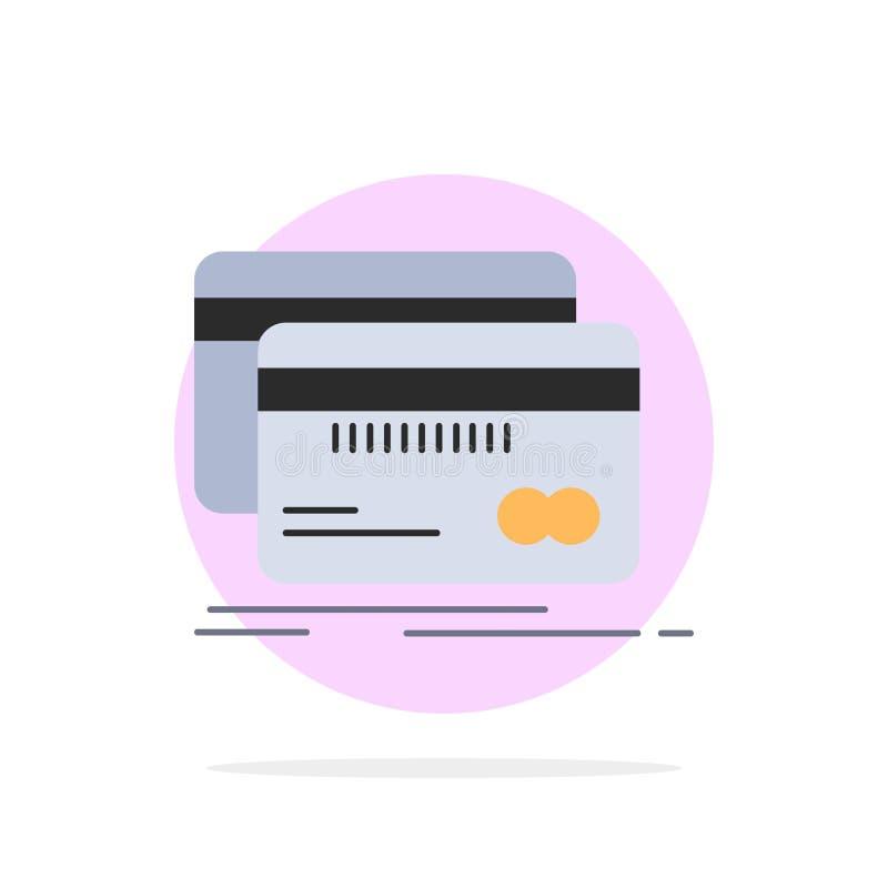 Банк, карта, кредит, дебит, вектор значка цвета финансов плоский иллюстрация вектора