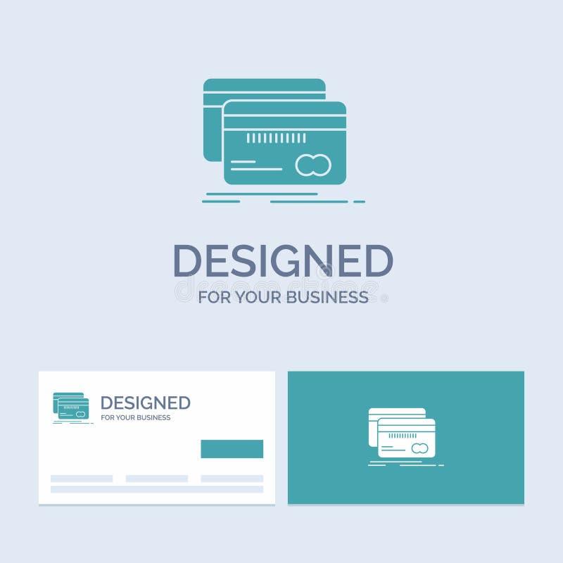 Банк, карта, кредит, дебит, символ значка глифа логотипа дела финансов для вашего дела r бесплатная иллюстрация