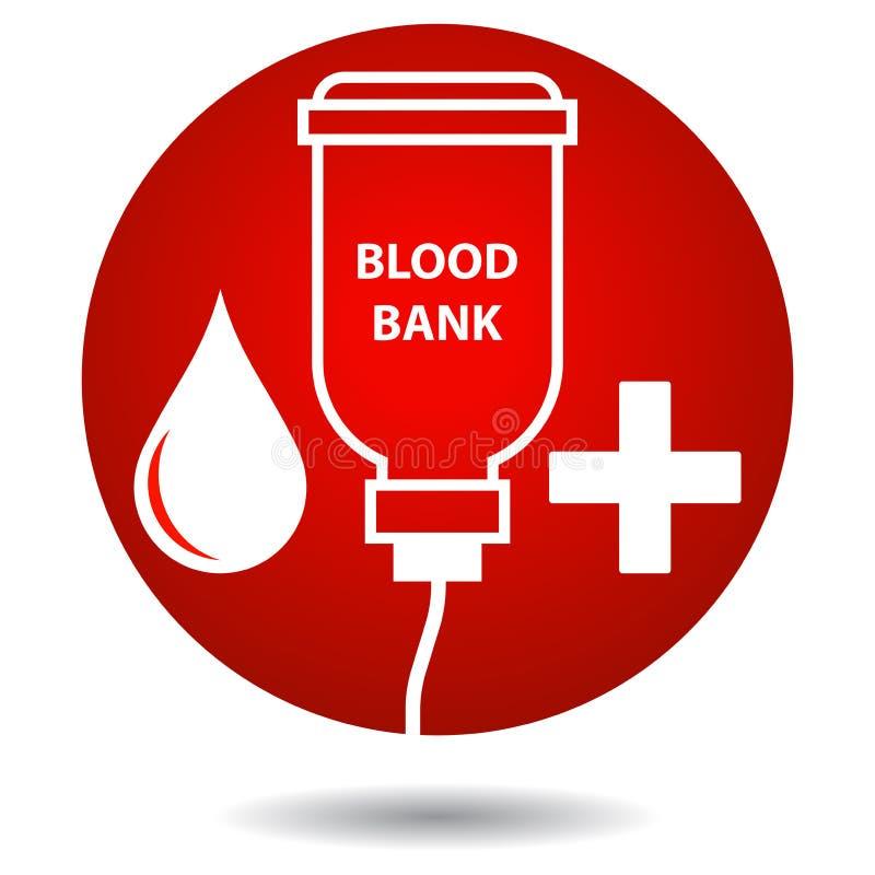 Банк крови - красное падение и крест бесплатная иллюстрация