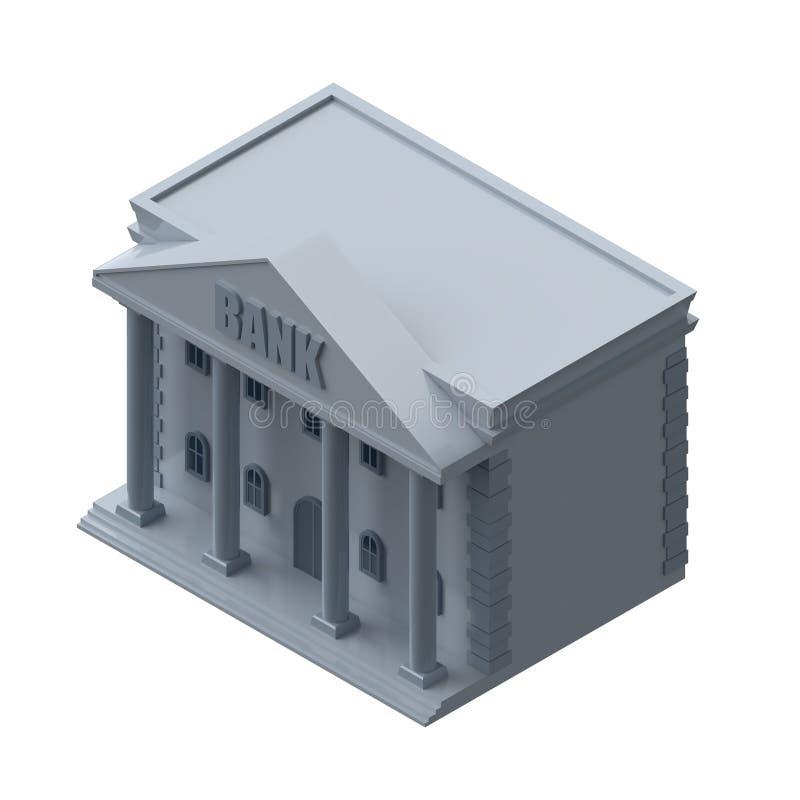 Банк на белой предпосылке Равновеликий значок r иллюстрация вектора