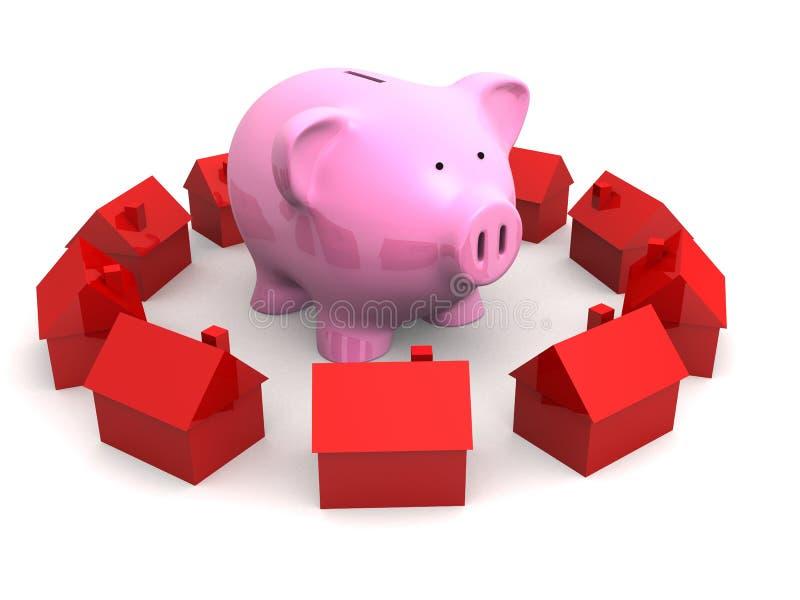 банк расквартировывает piggy иллюстрация штока