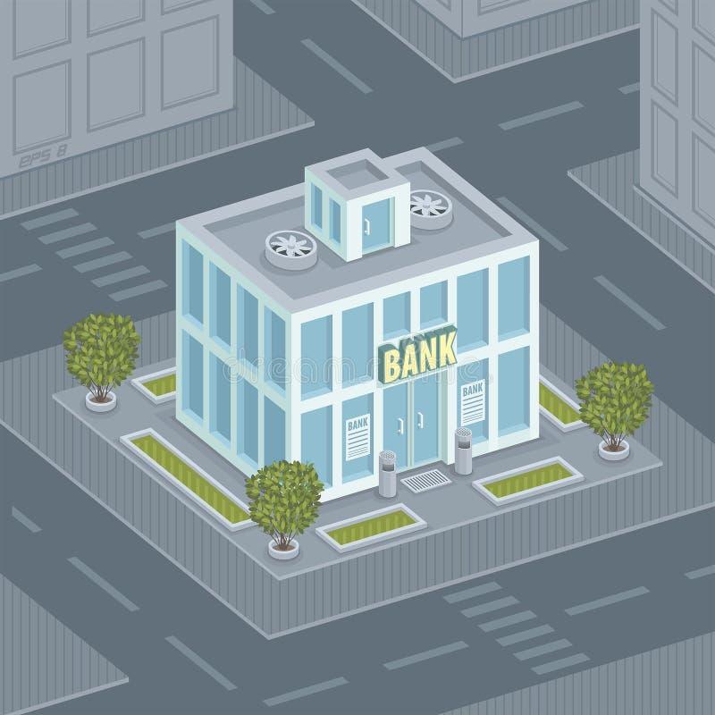 Банк фасада иллюстрация вектора