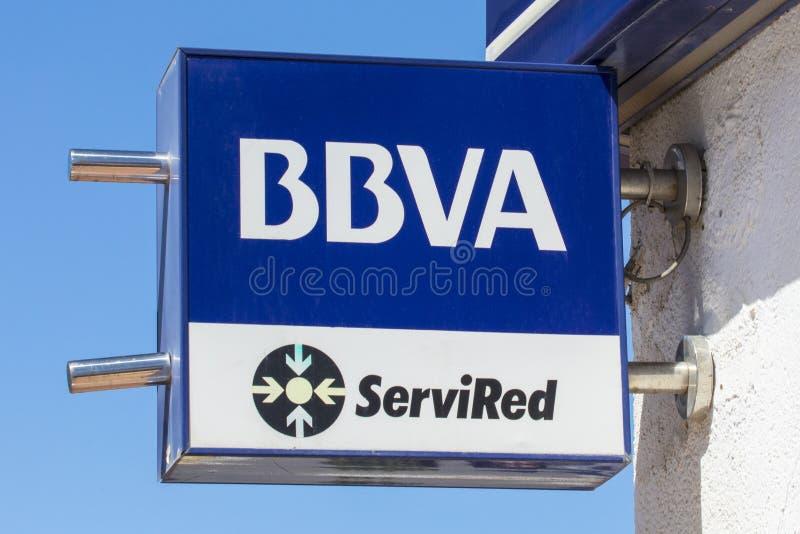Банк BBVA в Испании стоковые фото