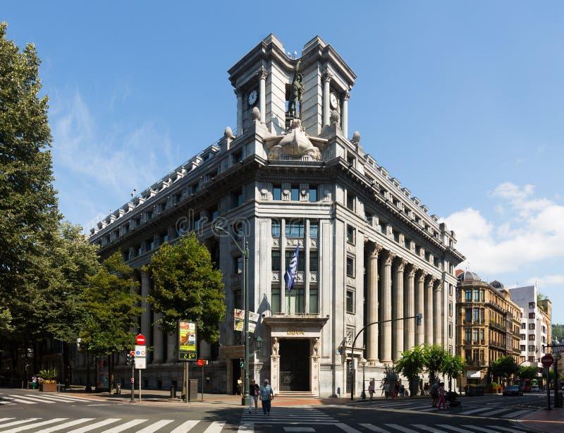 Банк BBVA на Бильбао стоковая фотография rf