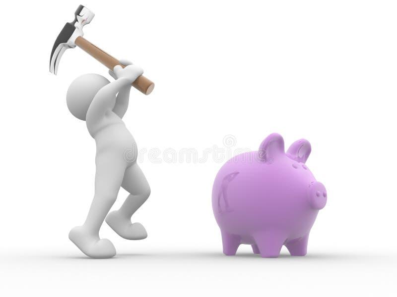 банк piggy иллюстрация вектора