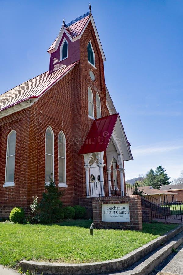 Баптистская церковь Buchanan стоковая фотография