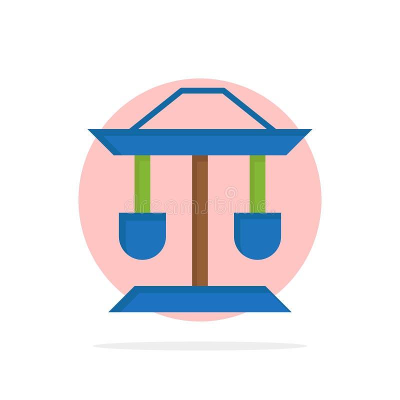 Барабанчик, колодец, закон, предпосылки круга баланса значок цвета абстрактной плоский иллюстрация вектора