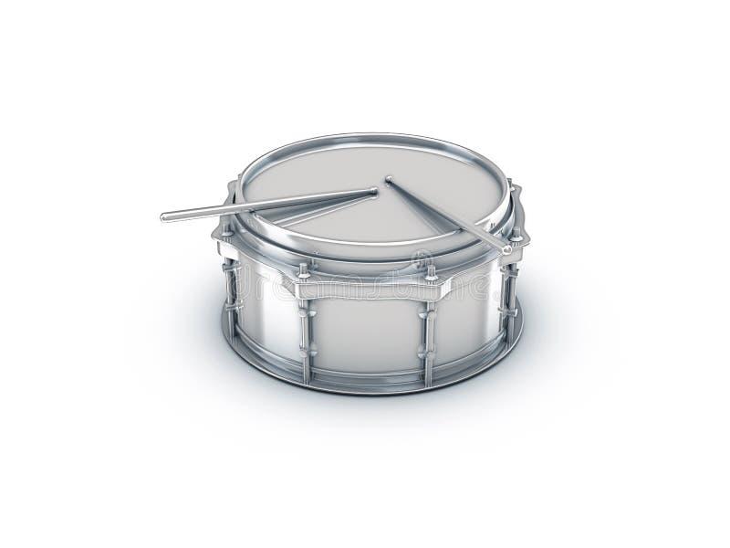 барабанчик крома иллюстрация вектора