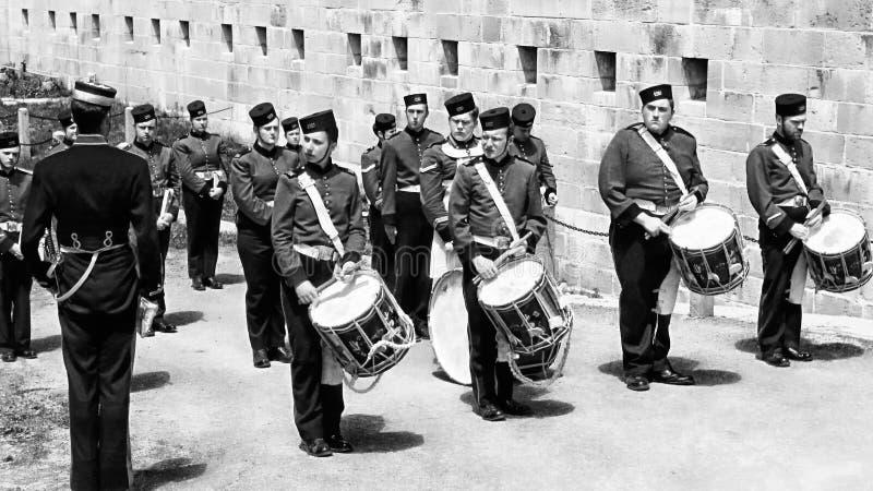 Барабанщики и корпус барабанчика стоковые изображения