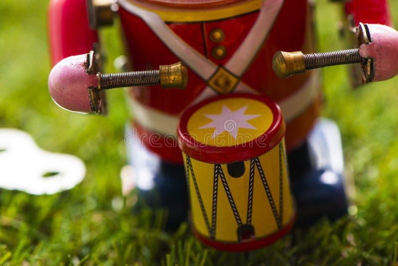 Барабанщик игрушки старого олова классический стоковые изображения
