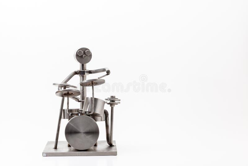 Барабанщик нержавеющей стали стоковое фото