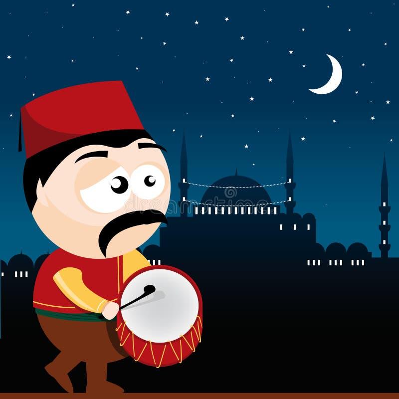 Барабанщик Рамазана бесплатная иллюстрация