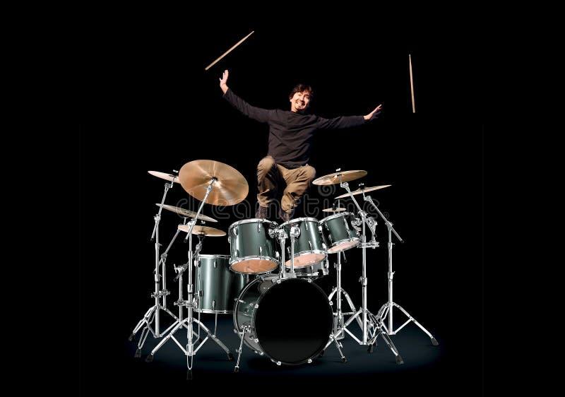 барабанщик счастливый стоковая фотография