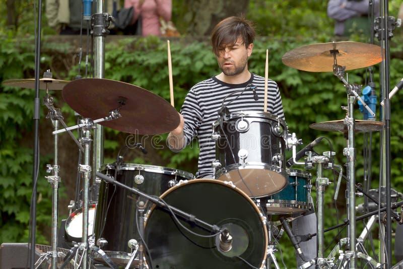 барабанщик стоковое фото rf