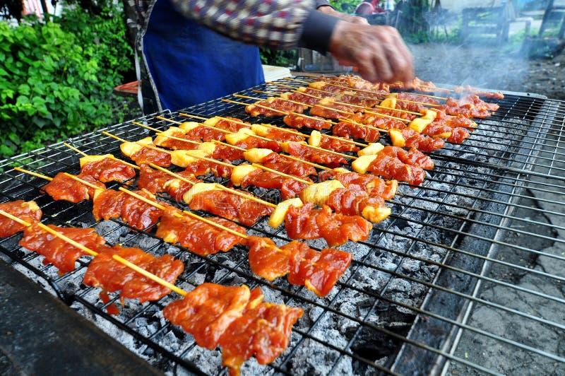 Барбекю свинины гриля стоковое изображение rf