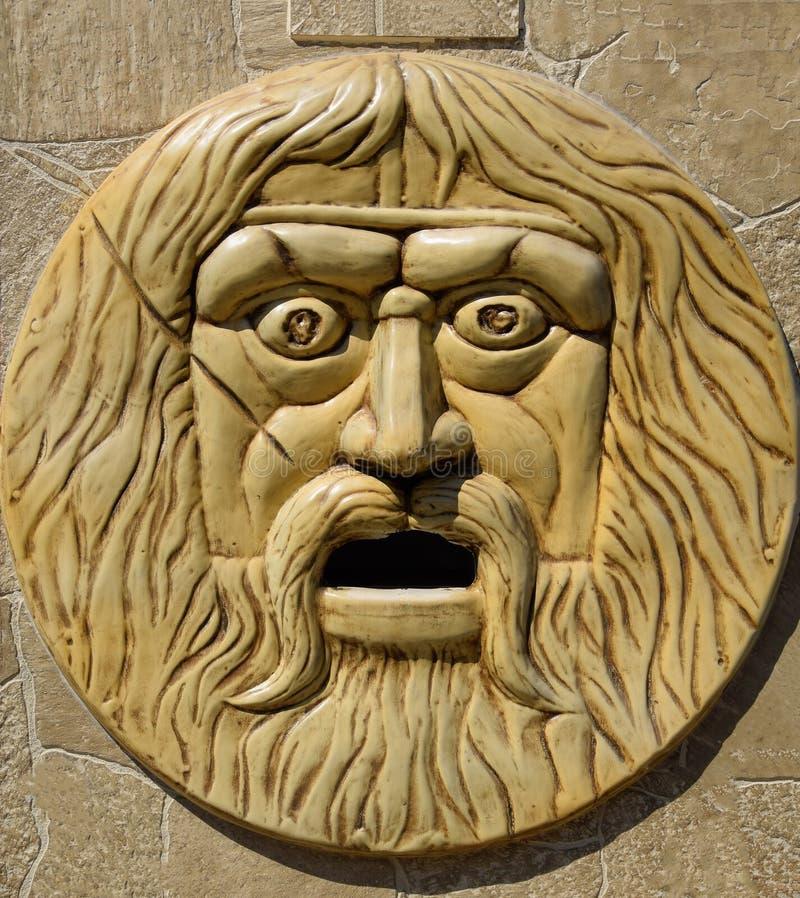 барельеф, сторона бородатого и волосатого человека стоковые изображения rf