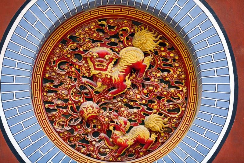 Барельеф на виске Yuantong в Kunming, Китае стоковые изображения rf