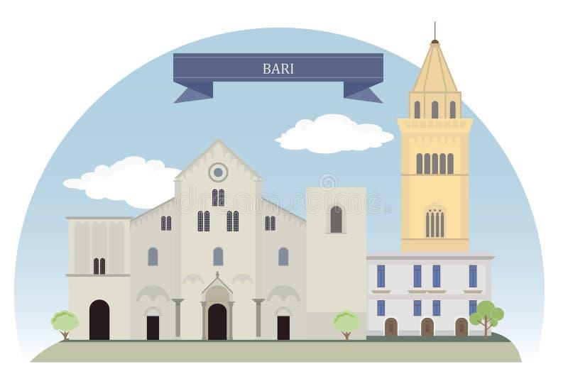 Бари, Италия иллюстрация вектора