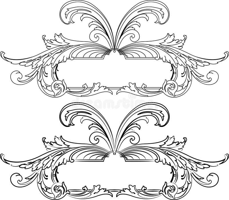 барокк знамени вводит 2 в моду иллюстрация вектора
