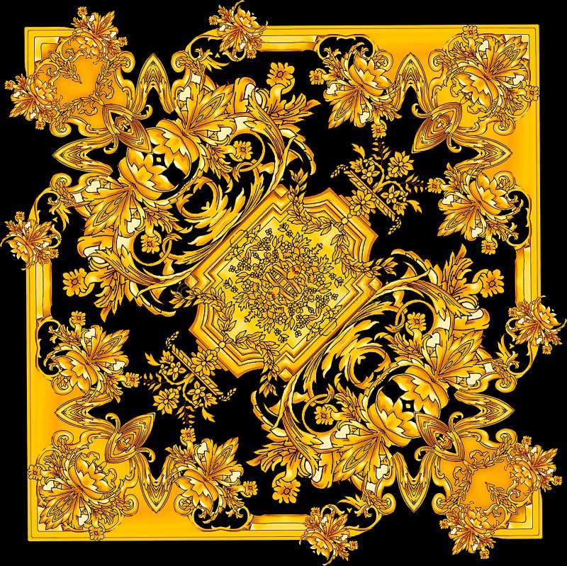 Барокк нового сезона золотое в черной картине предпосылки бесплатная иллюстрация