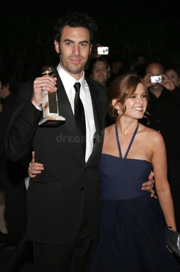 Барон Cohen и Isla Fisher Sacha стоковая фотография