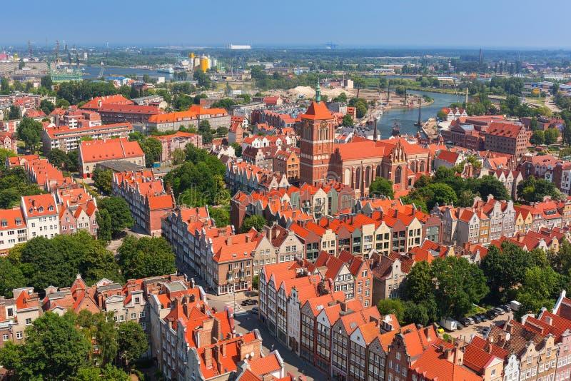 Барочная архитектура старого городка в Гданьске стоковое фото rf